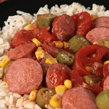 Southern Style Sausage Tomatoes and Okra                              …