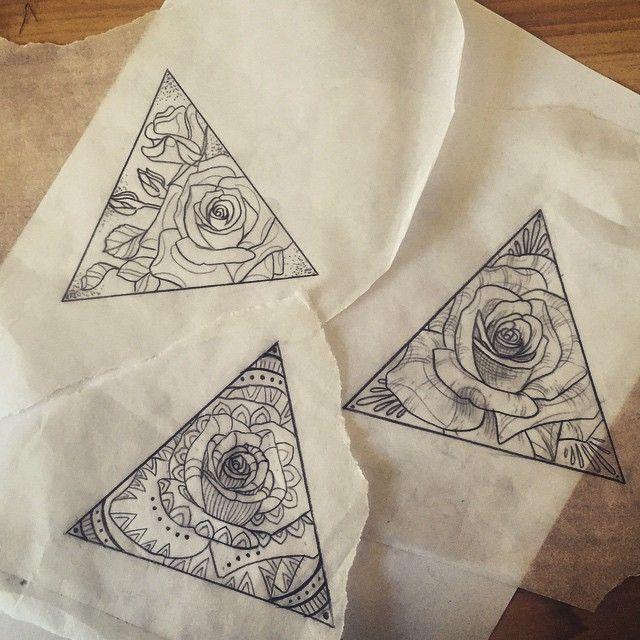 M s de 1000 ideas sobre tatuajes del tri ngulo en pinterest tatuajes tatuajes geom tricos y - Tatouage 3 points en triangle ...
