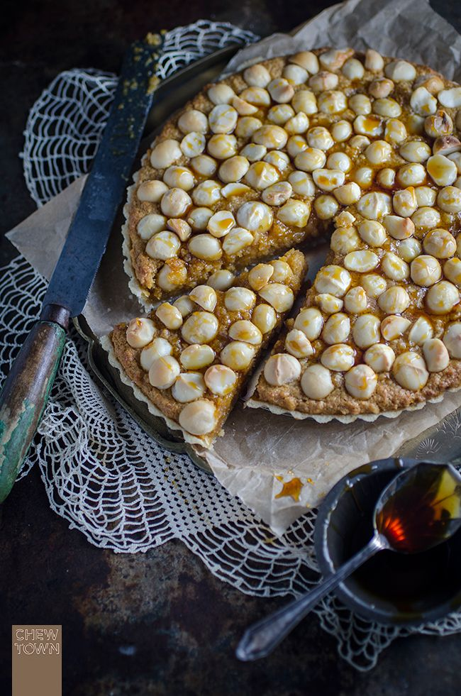 Macadamia and Golden Syrup Tart Recipe | Chew Town Food Blog