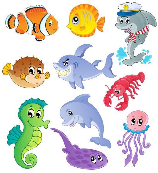 Gyermekek Graphics tengeri élet