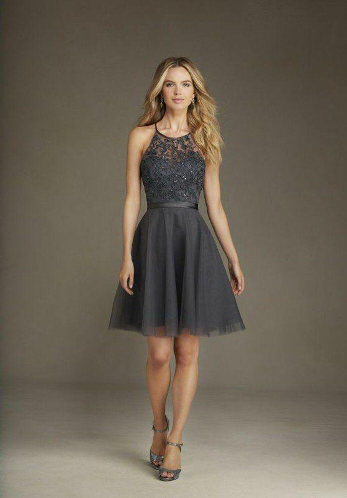 robe longue gris moyen, robe de mariée pas cher – Robe de soiree