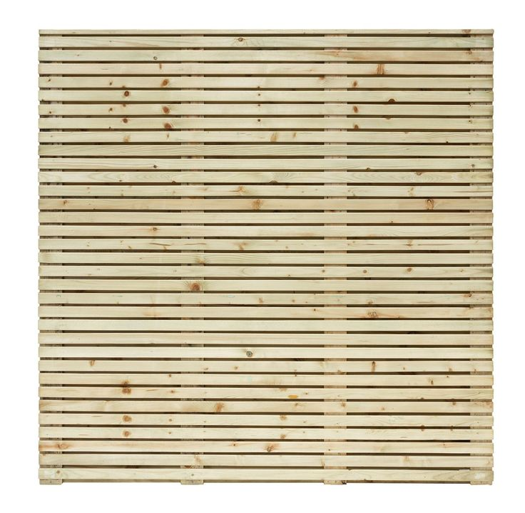 Contemporary Slatted Fence Panel (W)1.79m (H)1.793mm, Pack of 4 | Departments | DIY at B&Q