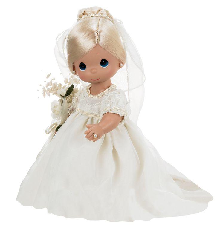 Кукла «зачарованые сны. невеста» блондинка precious moments