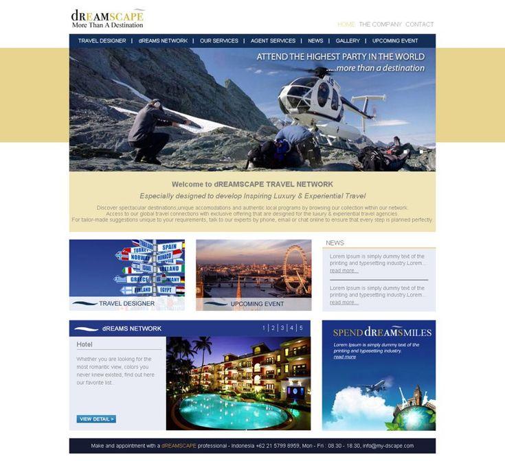Web company profile - Dreamscape. dreamscapetravelnetwork.com