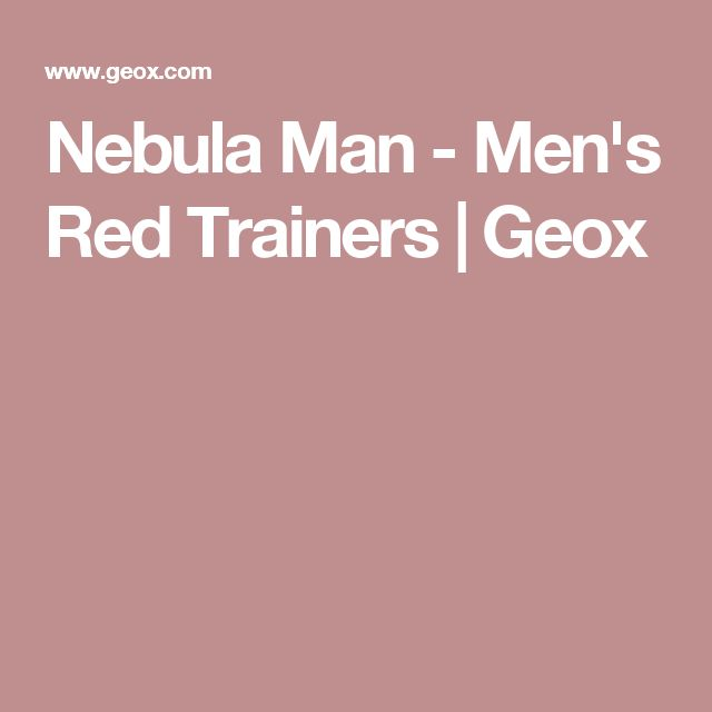 Nebula Man - Men's Red Trainers | Geox