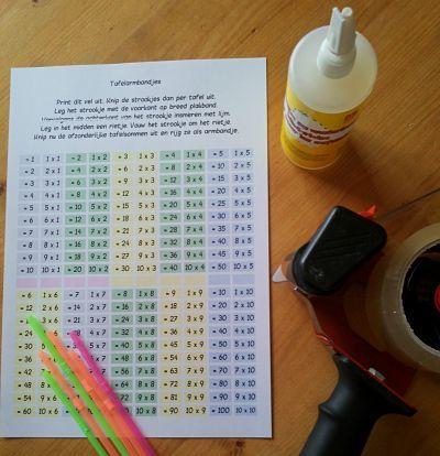 tafelarmbandje instructies 289x300 leren van tafels hulpmiddelen klas