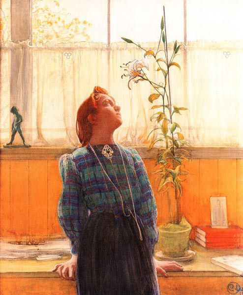 Lisbeth and the lily, Carl Larsson