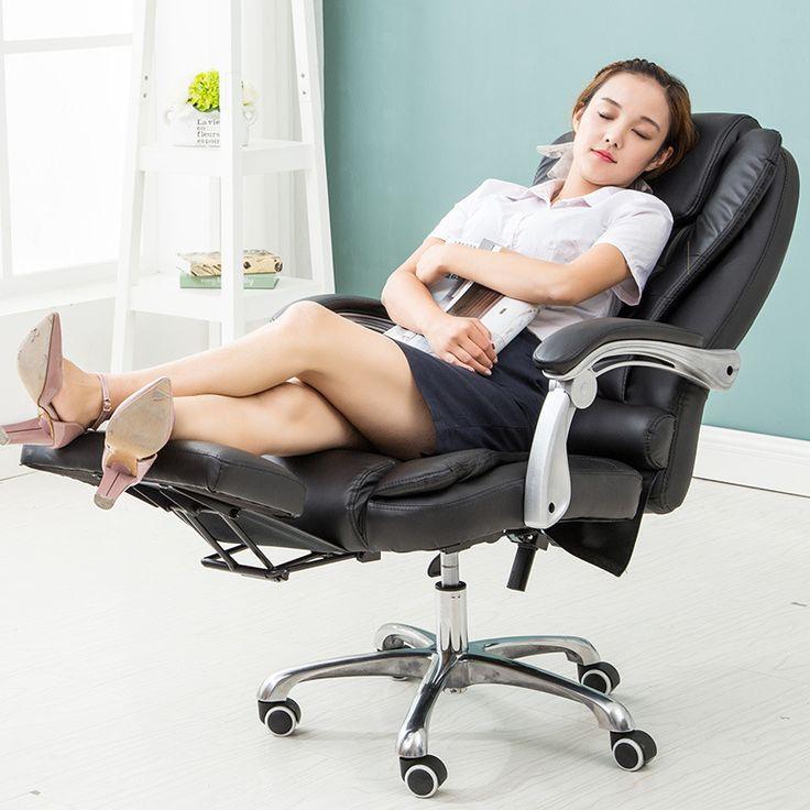Dapat berbaring kursi bos kursi kantor yang Han kulit pijat kaki kursi komputer gratis bukti kursi grosir (dengan pedal)