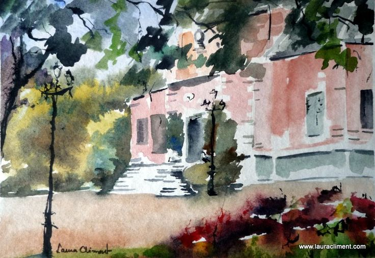 Albeniz Palace. Watercolor