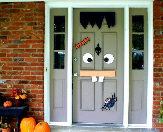Les 127 meilleures images du tableau halloween sur for Decoration porte halloween
