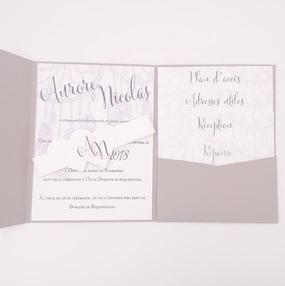 Cartes d/'invitation au mariage photo texte commande individuelle