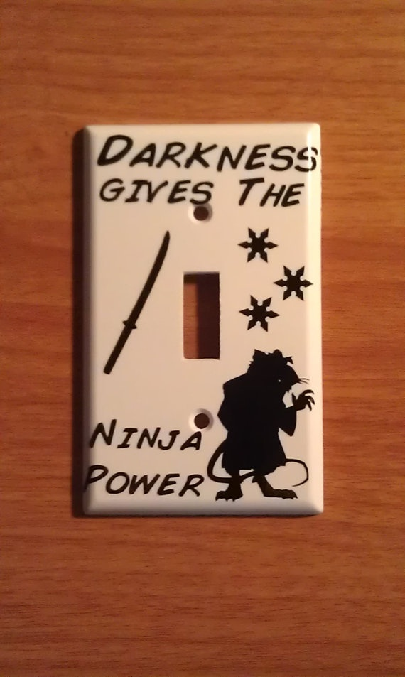 Teenage Mutant Ninja Turtle Splinter Light Switch Decal. $2.00, via Etsy. It's so cute. XD