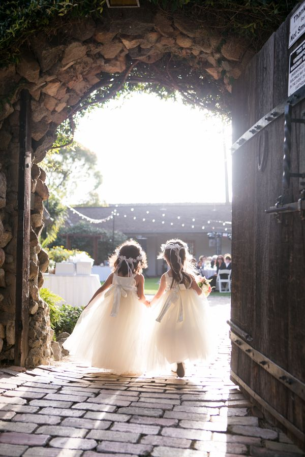 Sweet Flower Girls  Rancho Buena Vista Adobe Wedding Photographer:  Vallentyne Photography