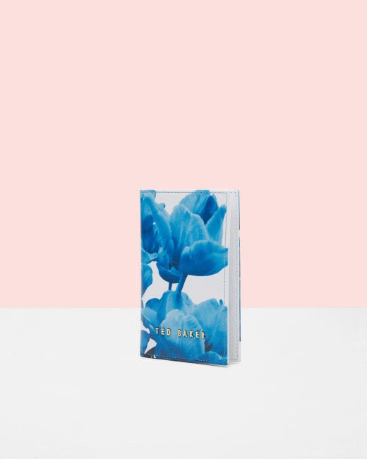 Blue Beauty leather passport holder - White   Gifts for her   Ted Baker NEU