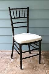 Mahogany Ballroom Chiavari Chairs With Ivory Cushions $5.00 Each