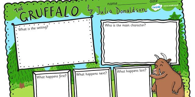 The Gruffalo Book Review Writing Frames great for helping children to comprehend this story
