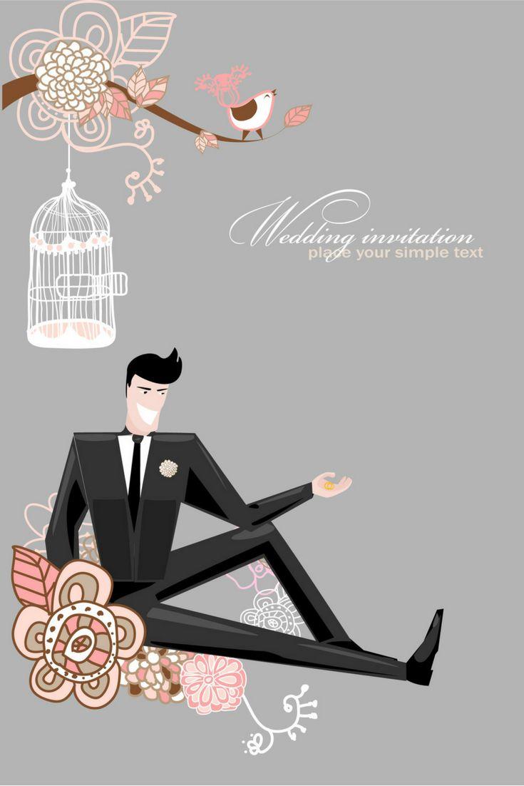 wedding card backgrounds vectors%0A Fine line of wedding background draft    vector Free Vector