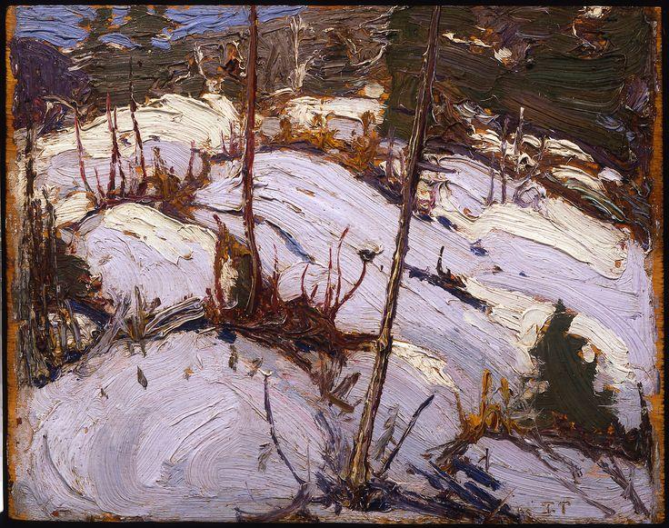 Tom Thomson Catalogue Raisonné | Winter Hillside, Algonquin Park, Spring 1916 (1916.11) | Catalogue entry