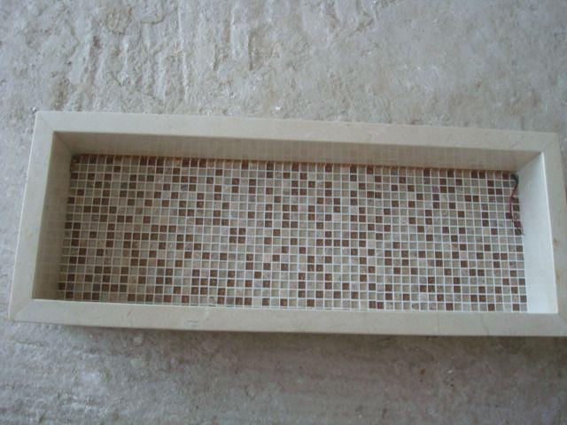 nicho marmore banheiro colado  Google Search  Apartamento  Pinterest  Search -> Nicho Banheiro Led