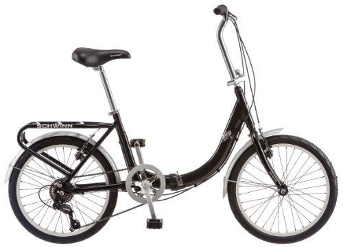 Schwinn 20-Inch Loop Folding Bike, Black #carscampus