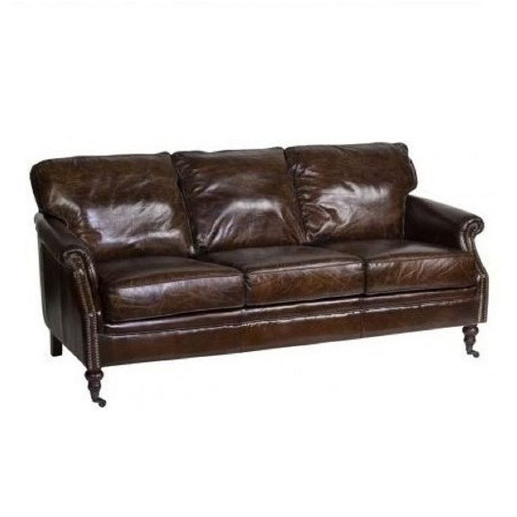 Aged Italian Leather Winchester 3 Seater - Living