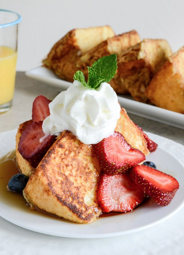 Angel Food Cake French Toast | howsweeteats.com
