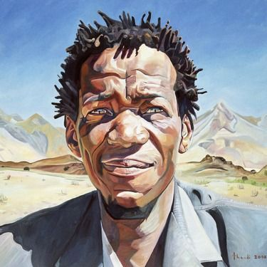 Thandi Sliepen; Painting, Karoo Man