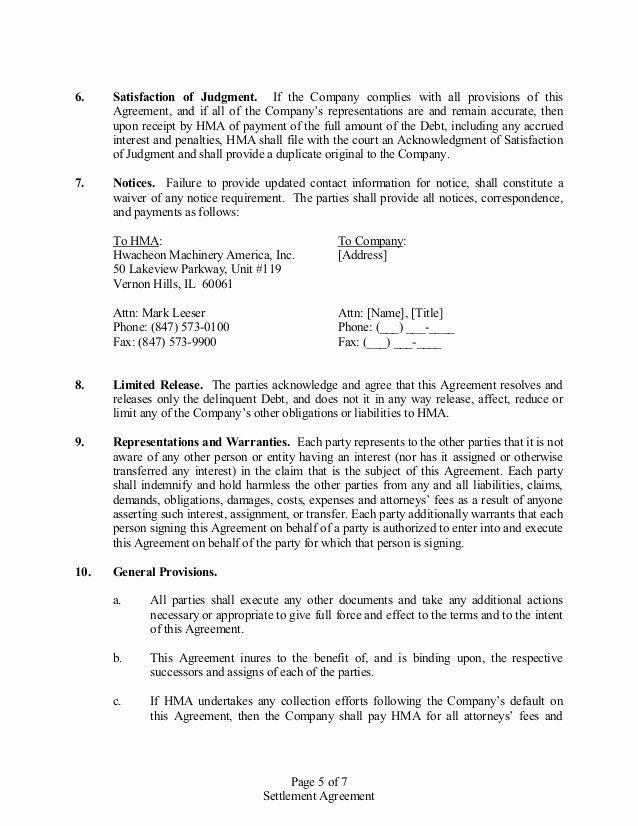 Payment Settlement Agreement Best Of Settlement Agreement Debt Agreement Resignation Letter Agreement