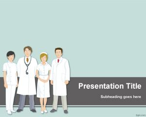 Free Medical Team PowerPoint Template