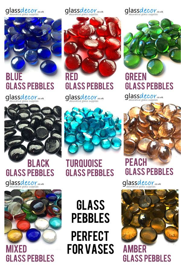 Choice of Colours Nuggets Round Mosaic Tiles 25 x Glass Pebbles Stones