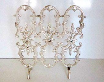 victorian fireplace screens | Victorian Brass Fireplace Screen Sa lesman Sample 12 by 14 Silver ...