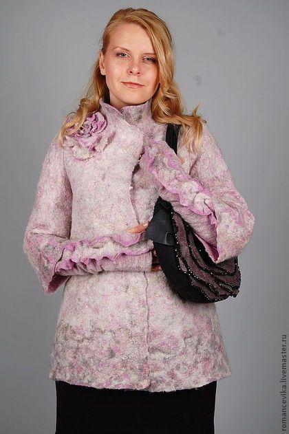 """Верхняя одежда ручной работы. Ярмарка Мастеров - ручная работа. Купить жакет """"Pearl jacket"""", валяный. Handmade. Бледно-розовый"""