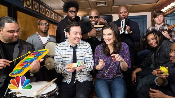 "Newswire: Idina Menzel, Jimmy Fallon, and The Roots played ""Let It Go"" using classroom instruments"
