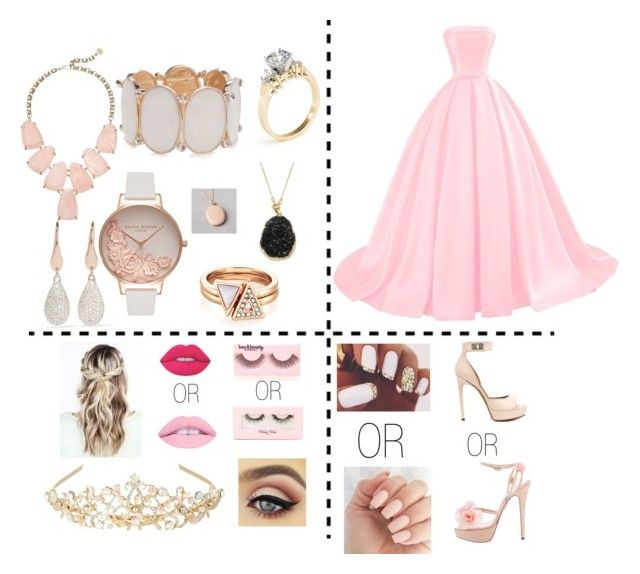 """""""Pinkalicious Prom"""" by emmaviers on Polyvore featuring Charlotte Olympia, Givenchy, New Directions, Violet Voss, Forever 21, Kendra Scott, Lime Crime, Olivia Burton, Monsoon and Monica Vinader"""