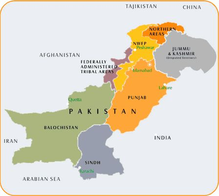 map northwest pakistan | Pakistan in pictures
