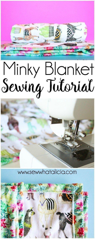 Self binding baby blanket tutorial pinterest baby blanket