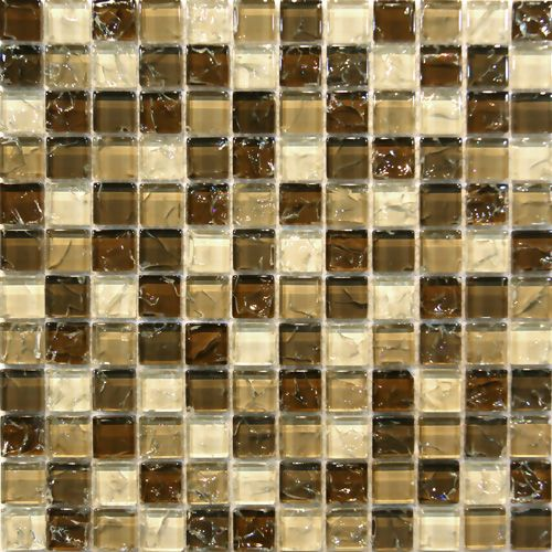 camellia beige crackle glass mosaic tile in stock 165sf