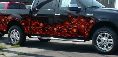 Skulls Wave Vehicle Half Wrap Car Wrap Skull Vehicles