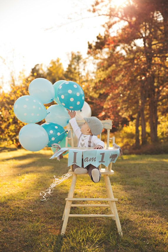1st Birthday Boy / I AM ONE Highchair Banner / I am 1 High
