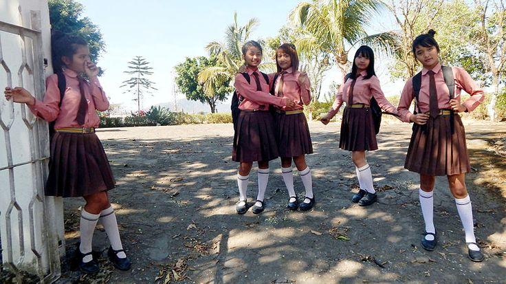 School uniforms of NEMS, Hnahthial, Lunglei, Mizoram, India