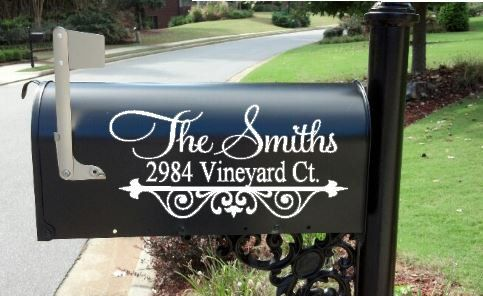 Personalized Custom Mailbox Decal by ElevateYourDecor on Etsy, $10.00