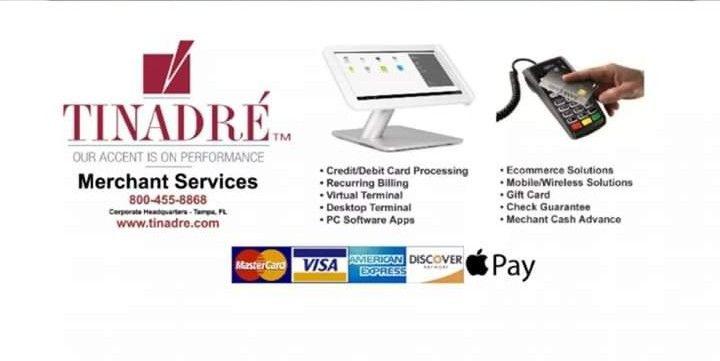 April 2, 2019 to April 5, 2019  Tinadre Merchant Services is