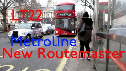 London Buses Route 24 Operated by Metroline from Holloway (HT) Garage Wright New Routemaster LT22 LTZ1022 Filmed on 8th December 2016
