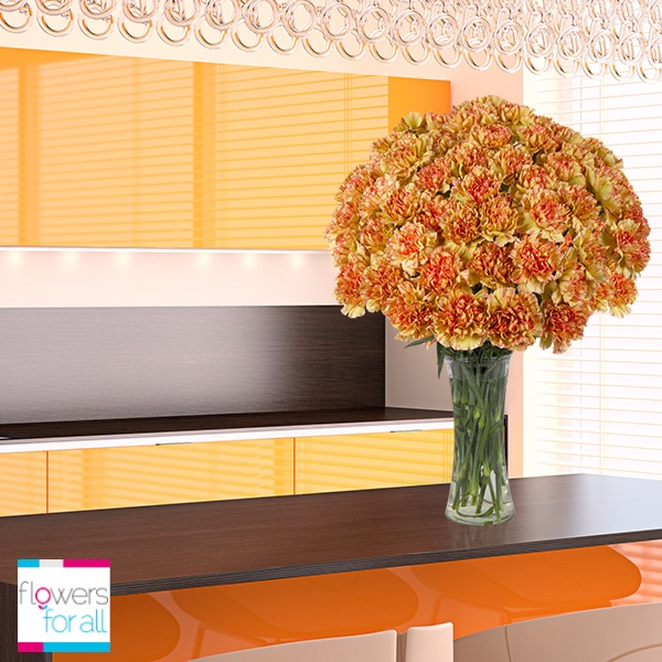 Unique bicolor carnations are available at Flowersforall.com, they are definately breathtaking!