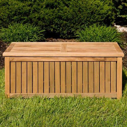Holley 4 Ft Teak Outdoor Storage Box