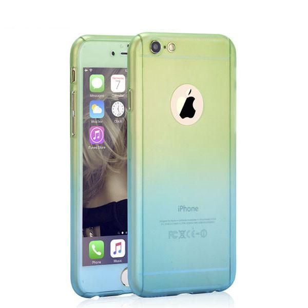 Ombre iphone 5 6 6s 7 Plus Hard Armor Cases + Screen Glass