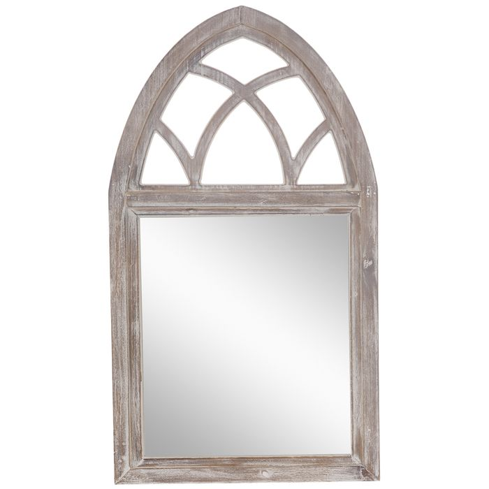 Whitewash Wood Wall Mirror With Arch Hobby Lobby 1970680 Framed Mirror Wall Mirror Wall Whitewash Wood