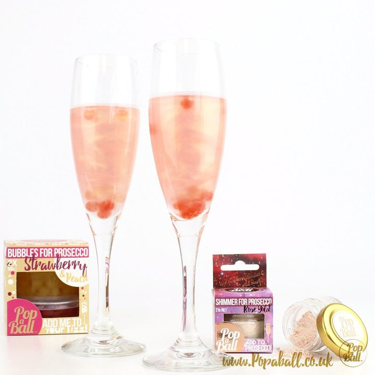 NEW! Pimp your prosecco set with bubbles for prosecco