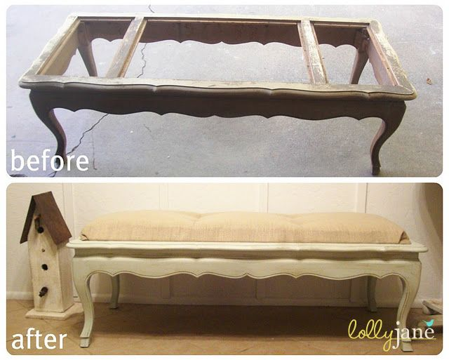 Coffee Table turned Bench tutorial, great before/after! #Bench #CoffeeTable