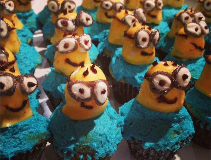 Make Despicable Me Minion Cupcakes for my son's birthday.